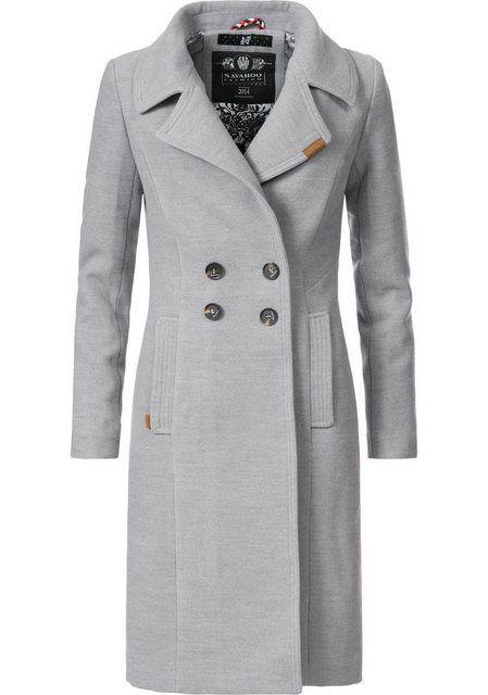 Trenchcoat Damen In Wollmantel Wintermantel »wooly« Edler sCQrtdhx
