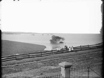 'Windsor Bottoms Flooded', Kerry and Co, Sydney, Australia, c. 1884-1917