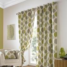 Green Regan Eyelet Curtain Collection