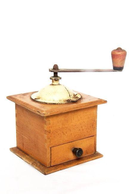 Ancien moulin à café en bois Super sympa en élément de déco vintage