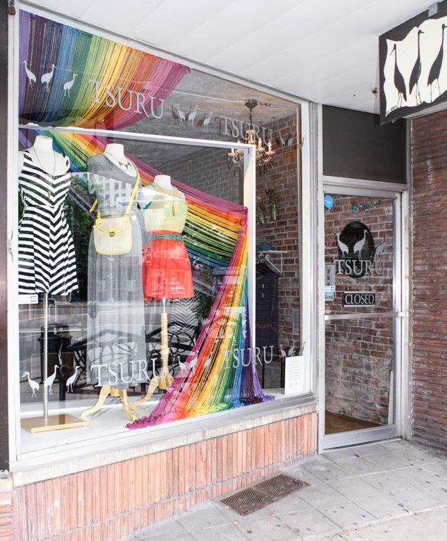 We're in love with this bold yarn window display from Boutique Window customer Tsuru. tsuru.boutiquewindow.com