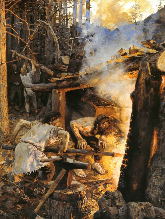 The Forging of the Sampo (1893) by Akseli Gallen-Kallela