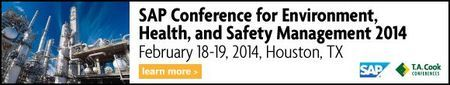 SAP Conference for Environment, Health, and Safety Management 2014@Hilton Houston Post Oak(2001 Post Oak Boulevard, Houston, TX, 77056, United States) on 18-19 Feb, 2014@8:30am-5pm. **Join T.A. Cook and SAP, at the unique SAP Conference for Environment, Health, and Safety Management, taking place in Houston, TX on February 18-19, 2014. **Tickets: http://atnd.it/6171-3. **Price: $400-$1,090. **Speakers: Dailey Tipton, Jose Colucci, Mary Kilgo, Mark Pyatt, Sharon Blake, HaJo Lockermann