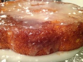 Besa's Albanian Recipes!: Lemon Glazed Ricotta Cake