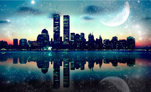 Starry city night photography | Photography