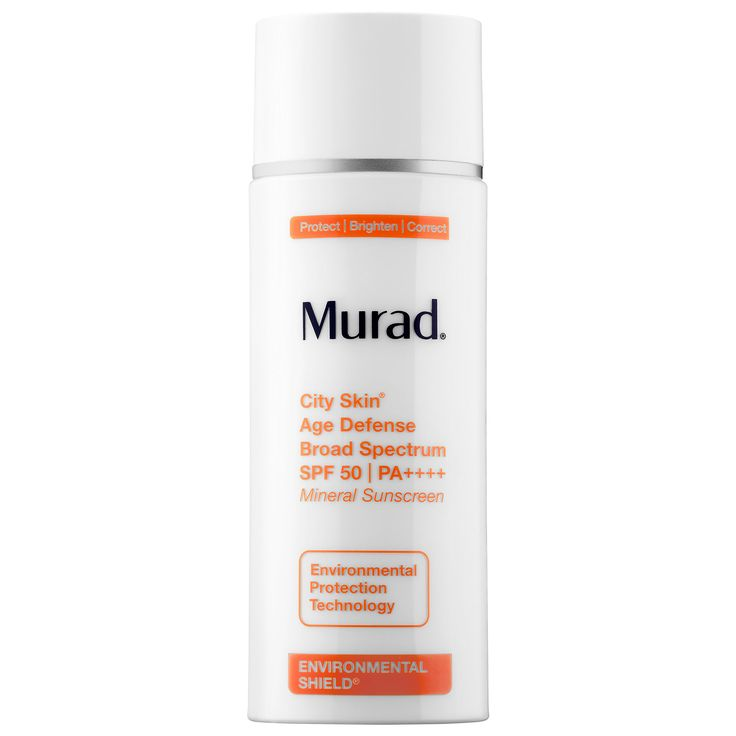 Shop Murad's City Skin Age Defense Broad Spectrum SPF 50 PA++++ at Sephora. The 100 percent mineral sunscreen shields skin from main causes of aging.