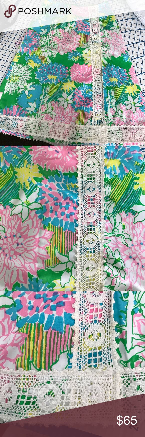 """Vintage Lilly skirt in very """"now"""" midi length Floral fabulousness! Vintage Lilly, trim and all. Great colors! Hem needs tacking up in one place. Waist 14, length 26. Classic Lilly!!!! Skirts"""
