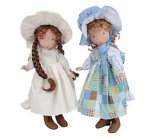 """Heather & Holly"" 15"" Porcelain Holly Hobbie Dolls by Marie.....Santa please !!!!"