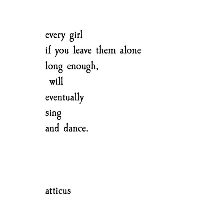 'Sing and Dance' @atticuspoetry #atticuspoetry