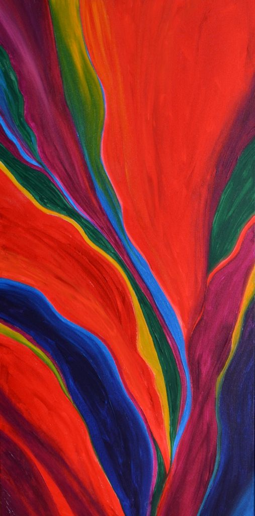 """""""Before the Bloom"""" by Stephanie Jack - 24in x 48in - acrylic - 2013 - $235"""