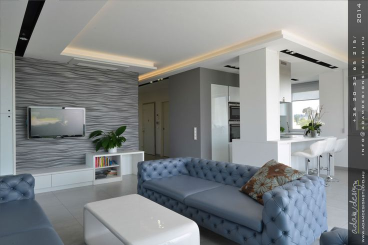 Living room, kitchen - Exceptional luxury designer penthouse for sale