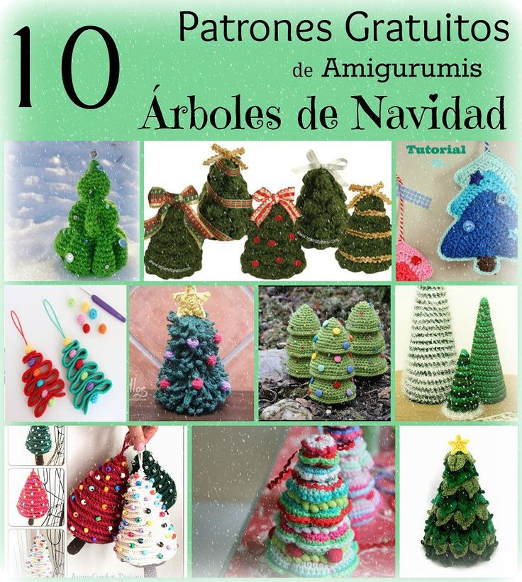 Patron Patrones Gratis Amigurumi Árbol de Navidad Árboles Xmas Christmas tree free pattern holiday crochet ganchillo