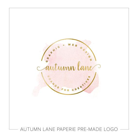 Premade Logo Design Watercolor Flower Logo by AutumnLanePaperie