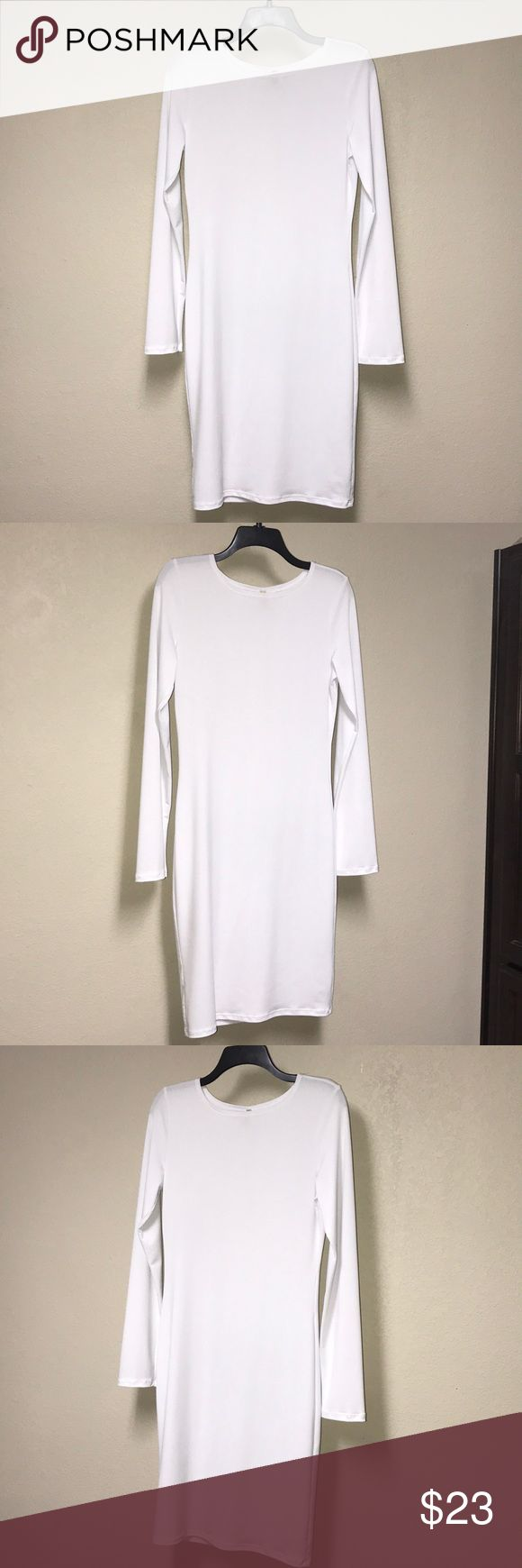 😇White BodyCon Dress😇 💕Sexy All White bodycon dress . Also filled with class & elegancy . Size XL , runs true to size . Great for a night out or day out . It hugs all your curves & the length is perfect😍Any questions , please ask😘 Dresses