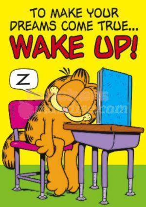 Garfield Poster To Make Your Dreams Come