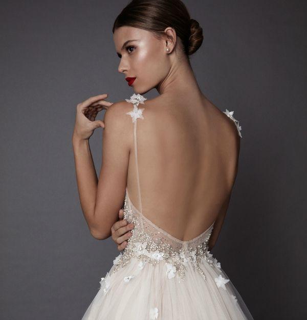 3D effect dress. Berta Bridal.