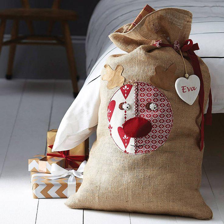 personalised rudolph santa sack by santa sacks | notonthehighstreet.com