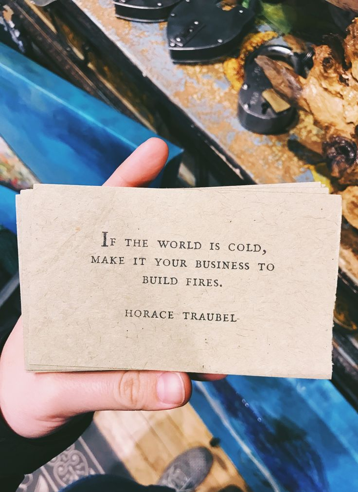if the world is cold..