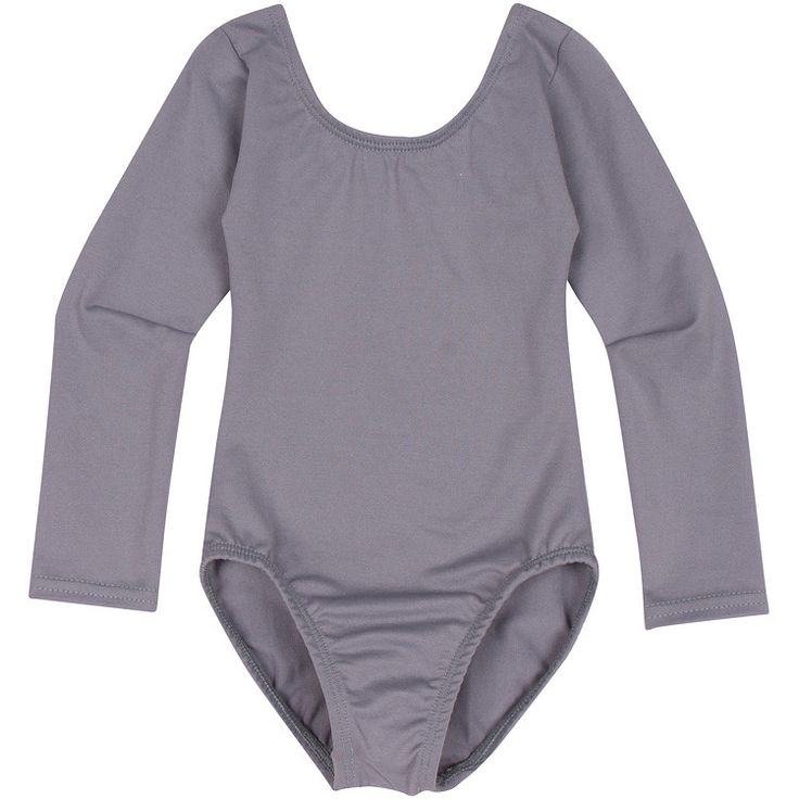 GRAY Long Sleeve Leotard for Toddler and Girls - Made in USA – The Leotard Boutique