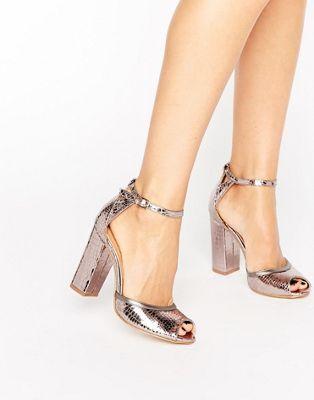 RAID - Sandali con tacco largo e cinturino alla caviglia