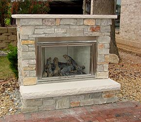 41 best Outdoor Fireplaces images on Pinterest   Gas fireplaces ...