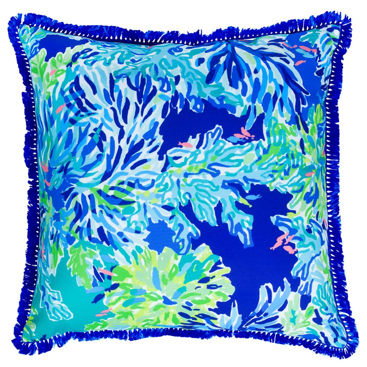 Lilly Pulitzer Large Throw Pillow in Wade and Sea at The Paper Store
