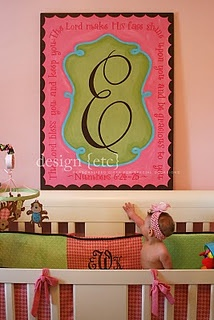 Fancy monogram on canvas