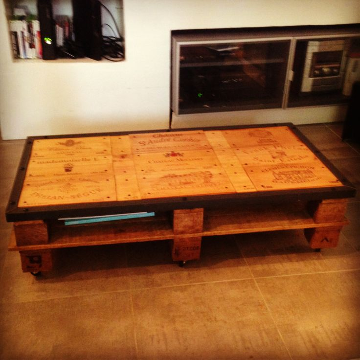 17 best table basse images on pinterest wood coffee tables and tables - Table basse chocolat ...