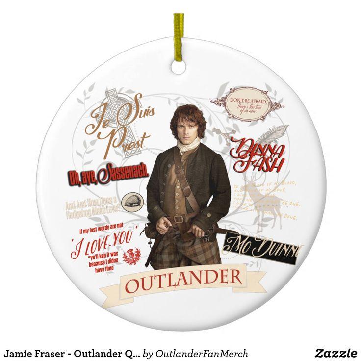 Jamie Fraser - Outlander Quotes Round Ceramic Ornament