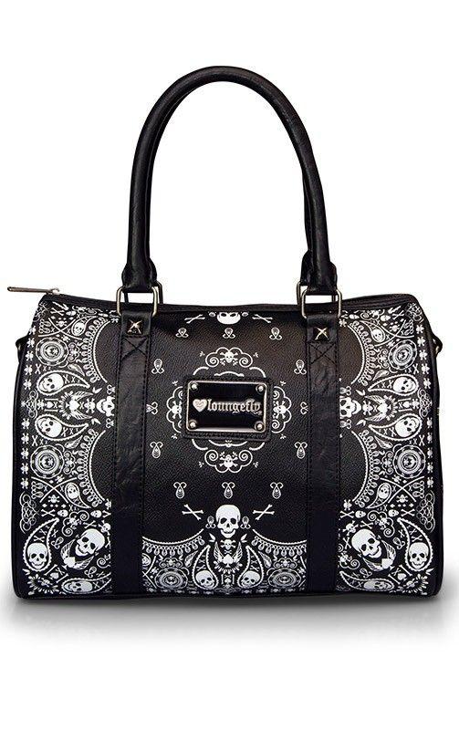 Bandana Skull Duffel Bag by Loungefly.... I WANT THIS BAG!!