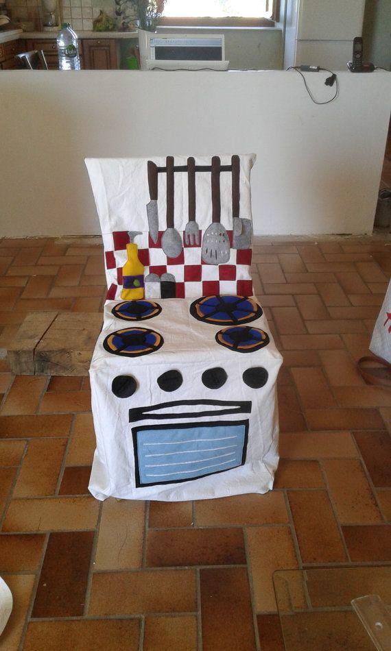 Couvre-chaise Cuisinière pour Enfant par AtelierPetiteSouris