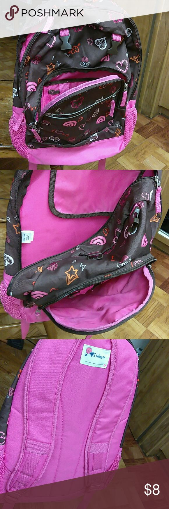 Old Navy.  Backpack Pink and brown w / hearts Old Navy Bags Backpacks