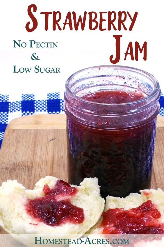 STRAWBERRY JAM: I love this easy strawberry jam recipe! This is an old family fa…