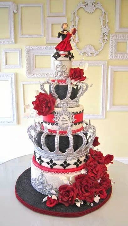 black and red and white and silver...regal and ornate..and somehow eclectic