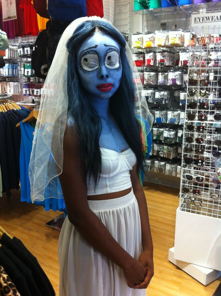 Today's the day! Ashley uses our Spandex Underwire Bustier and Chiffon Full Length Skirt (along with amazing make-up!) for her Corpse Bride costume! #AAhalloween #AAneworleans