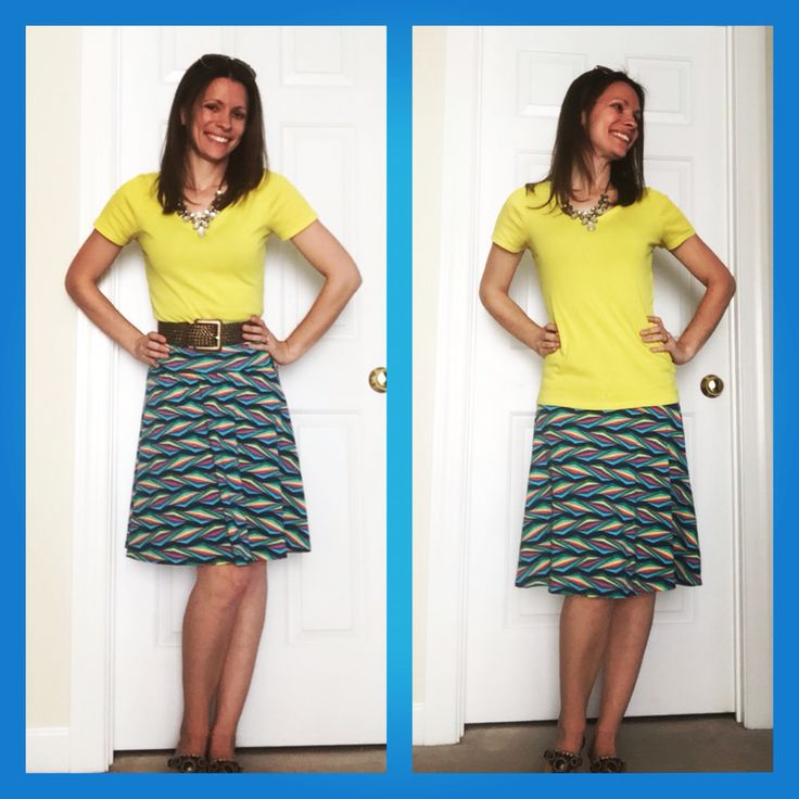 LuLaRoe Azure Skirt. Slightly flowy and super comfy!! The ideal skirt for spring and summer!! Find me on Facebook LuLaRoe Jen McConnell!