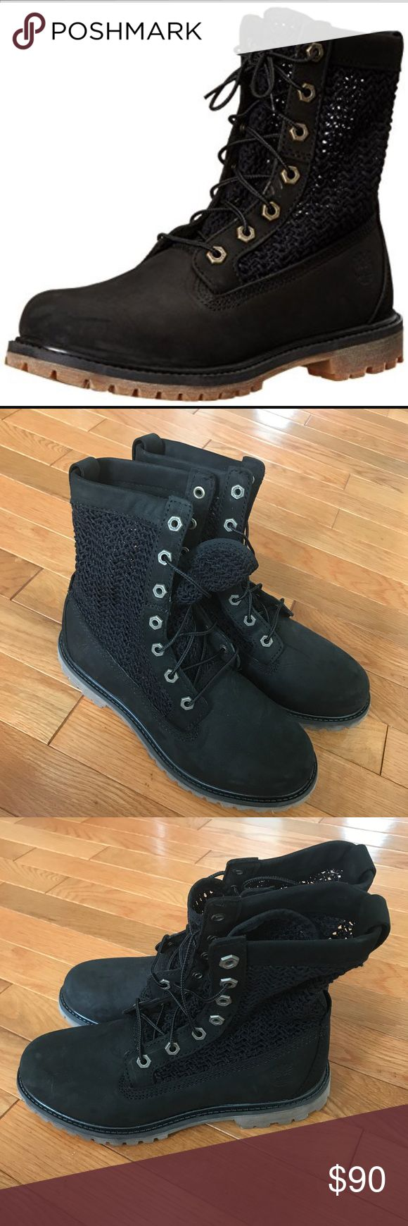 Timberland open weave boots 7.5 new Timberland open weave boots 7.5 new no box Timberland Shoes Combat & Moto Boots