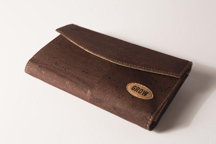 Grow's Quercus Robusta Dark Cork Wallet for Woman