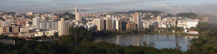 Vista panorâmica da cidade lado e o Balneário do Parque das águas.