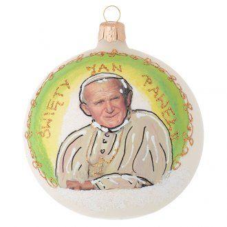 Bola de Navidad San Juan Pablo II vidrio soplado 100 mm