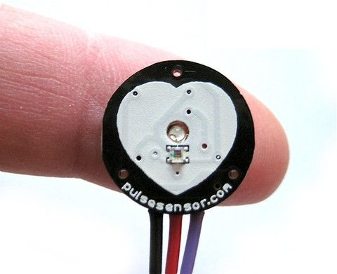 Pulse Sensor AMPED for Arduino http://pulsesensor.com/products/pulse-sensor-amped