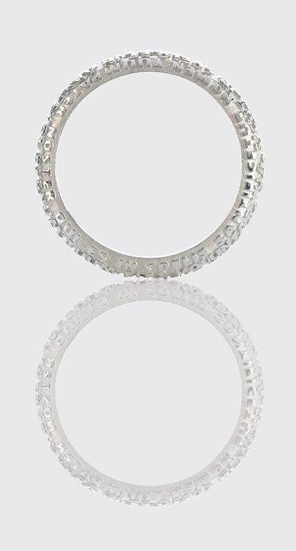 La fede in oro bianco  Wedding ring, white gold. - www.tuum.it -