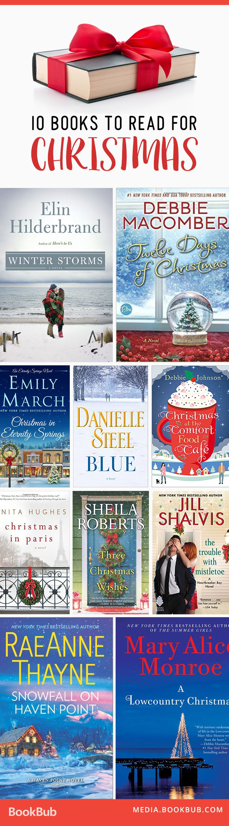 Looking forward to some reading around Christmastime? These book recommendations for the holidays will do the trick!