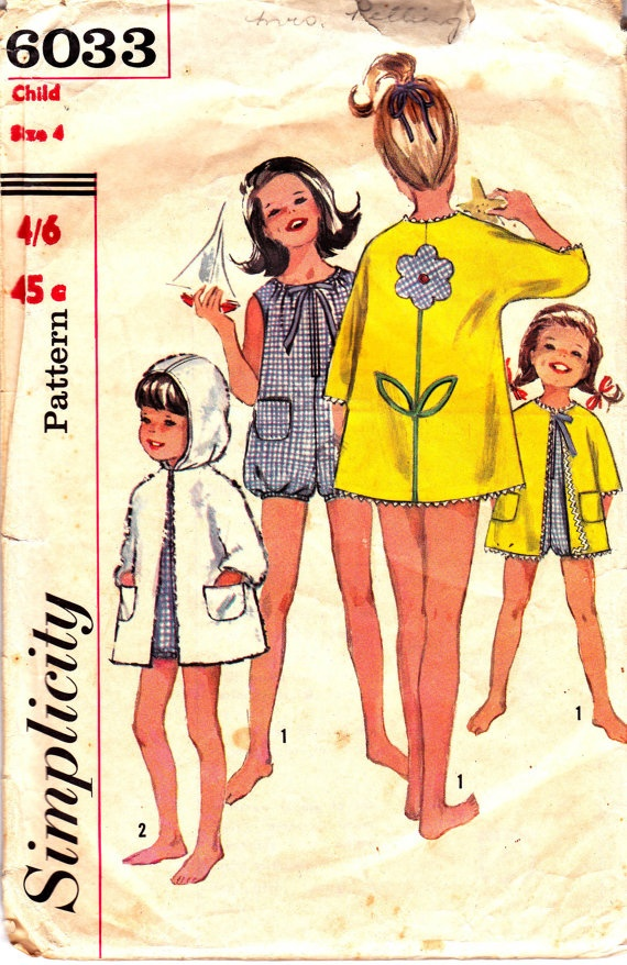 60s Vintage Girls PlaySuit & Beach Coat by allthepreciousthings,