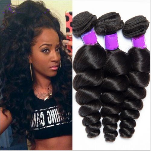 3 Bundles Unproceseed Virgin Brazilian Human Hair Loose Wave Hair Extension in Health & Beauty,Hair Care & Styling,Hair Extensions & Wigs | eBay