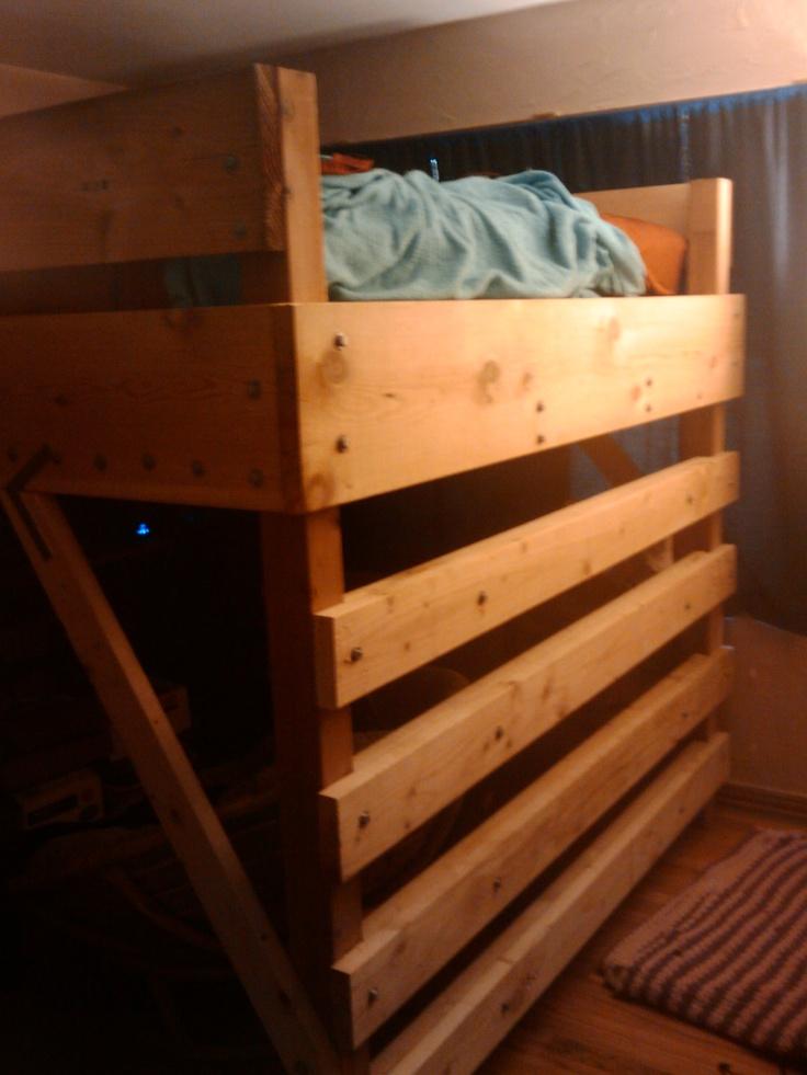 Best King Size Loft Bed We Built Loft Bed Furniture Kids Room 640 x 480