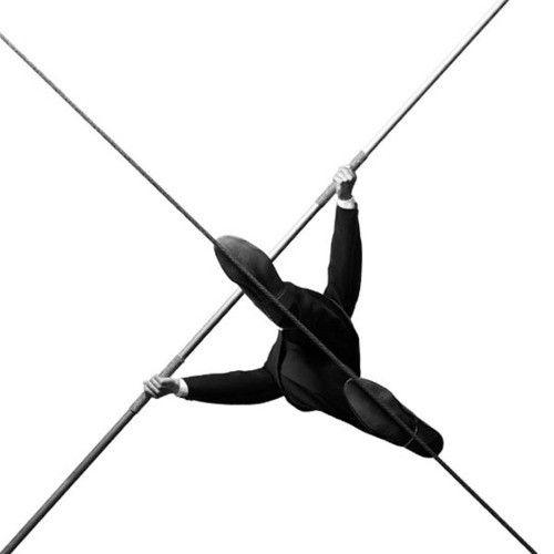 black tightrope.