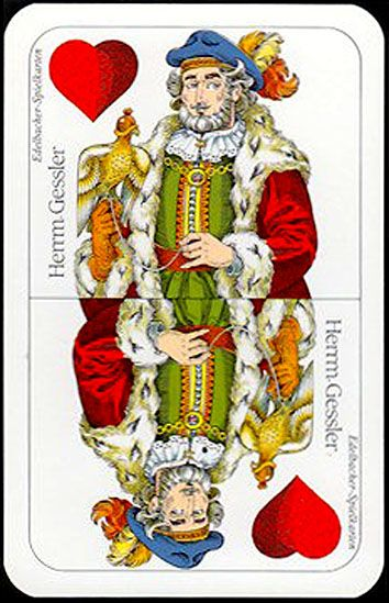 "deck ""Tell II pattern"" (36 cards), ""Spielkartenerzeugung Edelbacher Druck"" (Vienna, Austria), dimension 64x100  mm. - poker playing cards, deck of cards, card deck, unique playing cards, art of play cards, design play cards, cool playing cards, cardistry, jugando a las cartas, karty do gry, игральные карты, карты"