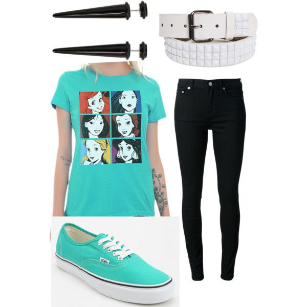 Disney Princesses indie scene outfit, agin I wouldn't wear the earrings