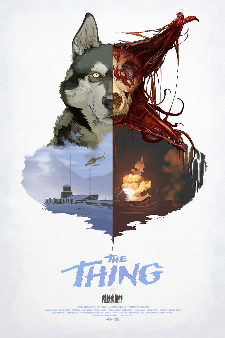 The Thing - movie poster. Excellent film. I've seen it a few times and it never gets old
